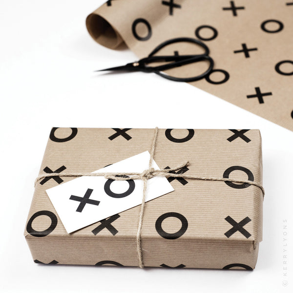 Our 'Kiss hug' giftwrap and tags make the most everyday gift look beautiful, and feel luxurious