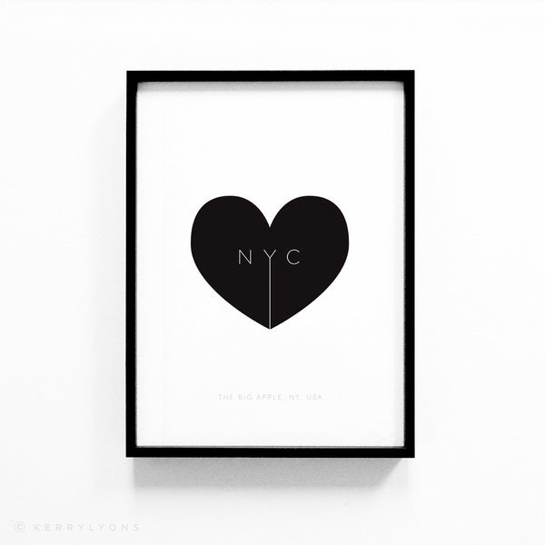 USA love heart locations – A4/A3 prints