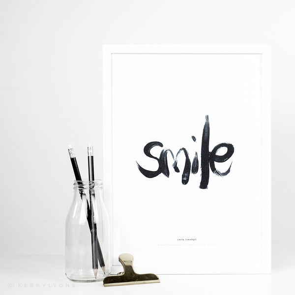 These typographic unframed prints are perfect for someone who always sees the good in situations and wants to start the day with positive uplifting thoughts