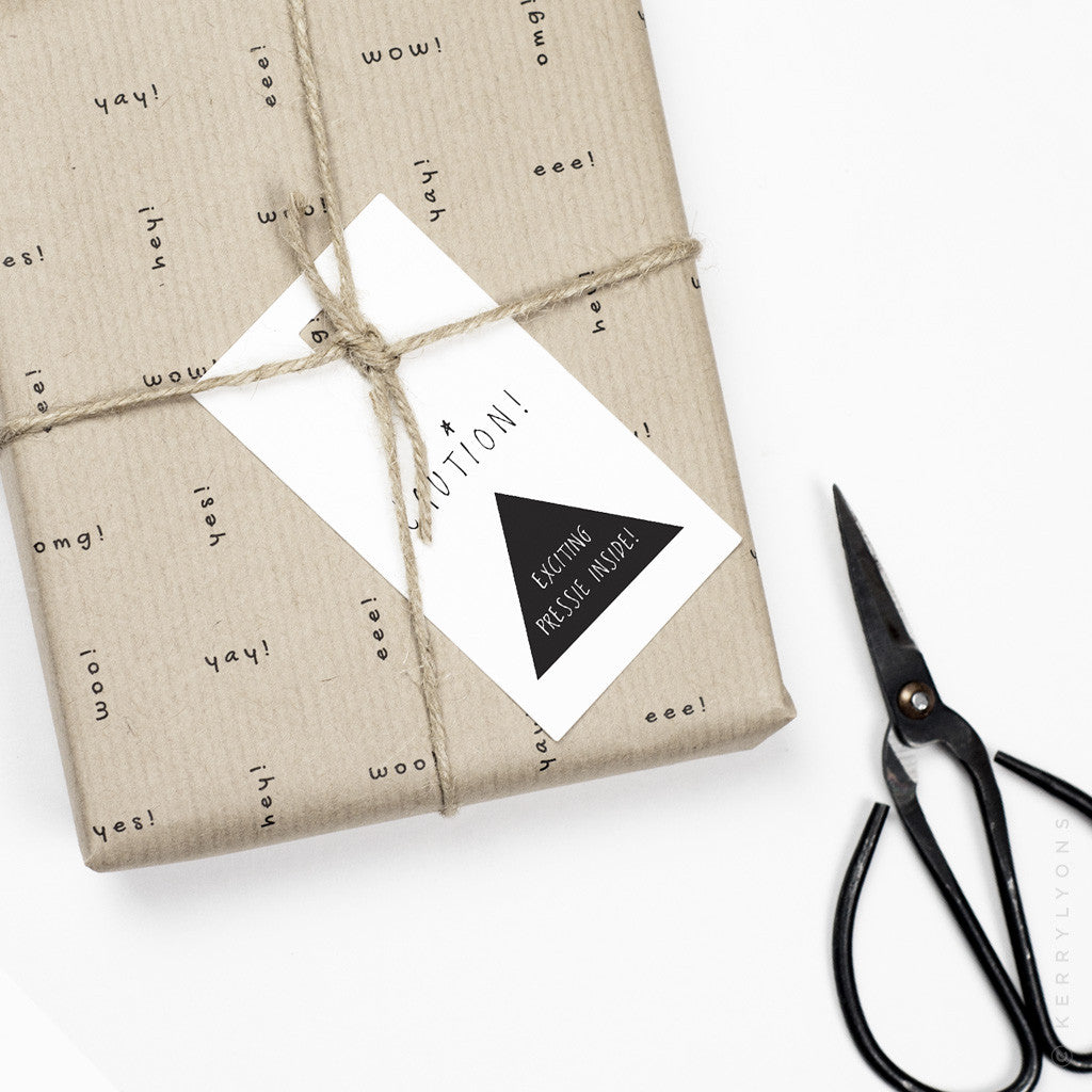 Our 'Three letters' giftwrap and tags make the simplest of gifts a treat to wrap, and to open