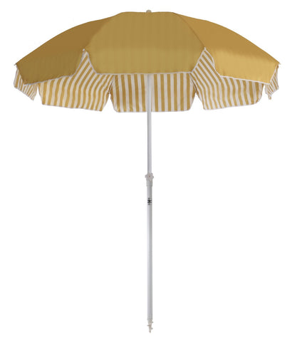 Business and Pleasure Family Beach Umbrella Gold Stripe