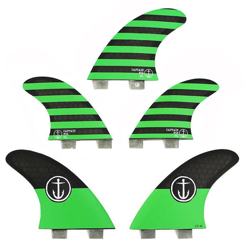 Captain Fin Co CF-5-Fin Set Medium TT (Twin Tab)