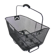 Black quick release wire mesh rear basket