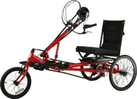 Rehatri hand cycle electric semi-recumbent