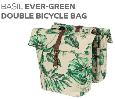 Basil - Ever-Green Double Bicycle bag