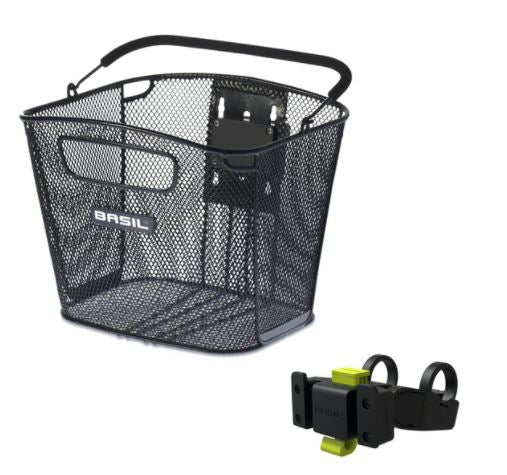 Basil - Front basket FB Bold + KF adapter for quick release