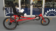 Rehatri semi-recumbent electric foot tricycle