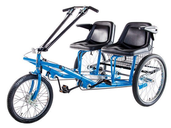 Worksman Team Dual side-by-side dual electric foot tricycle