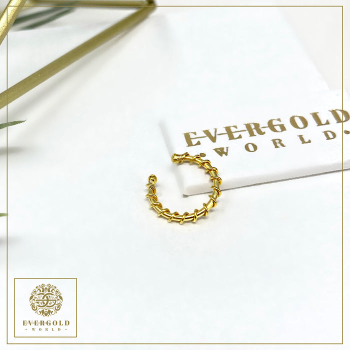 Classic NON-PIERCED Nose Ring - 22K Gold