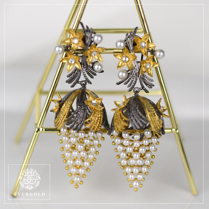 Flower Jhumki Earrings