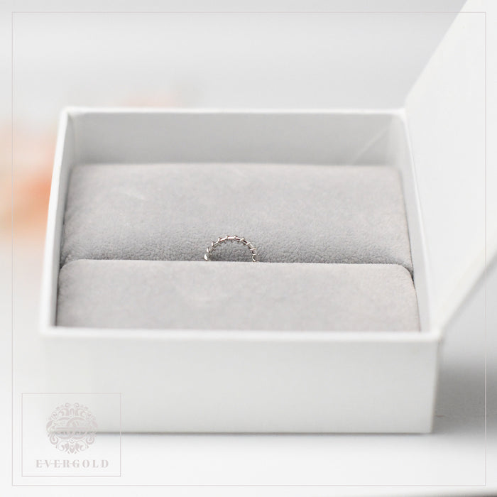 Classic Nose Ring - 22K White Gold