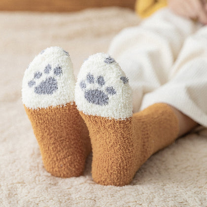 Very nice and soft kitten socks for walking around the house.