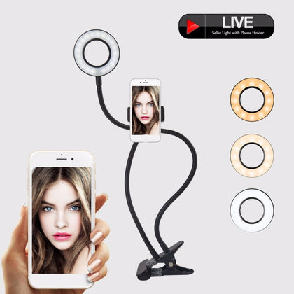 Selfie LED light for video chat and perfect photos with your mobile.