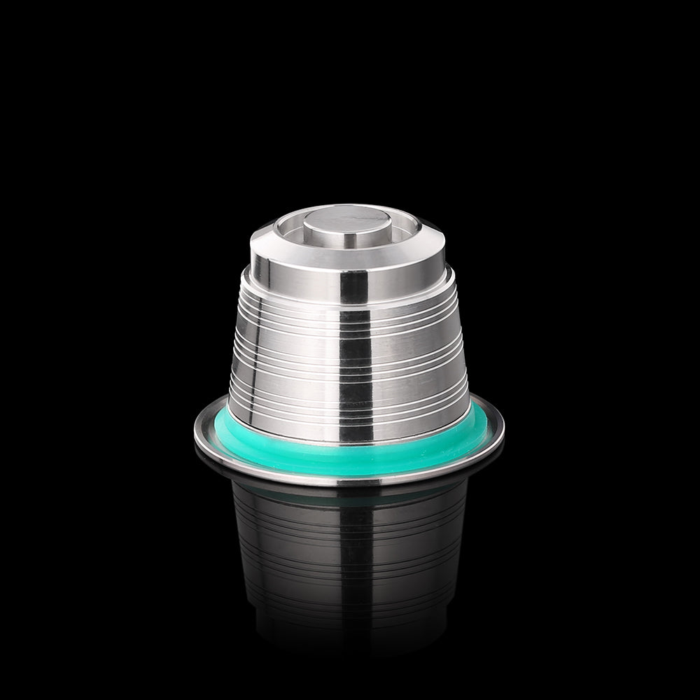 Reusable refillable inox capsule for Nespresso machines