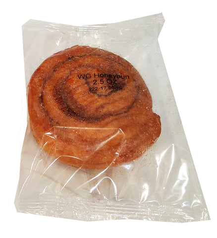 Whole Grain 2.5 oz. Honeybuns  - 72 IW Honey Buns