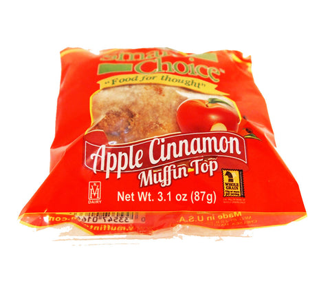 Smart Choice Wholegrain 2 oz. Apple Cinnamon Muffin Tops - 24 Muffin Tops