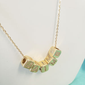 CNN02- Cube Name Necklace