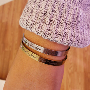 SKCFF02- Skinny Personalized Name Cuff
