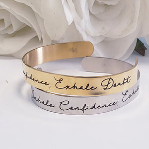 CFFEI01- inhale confidence, exhale doubt motivational cuff