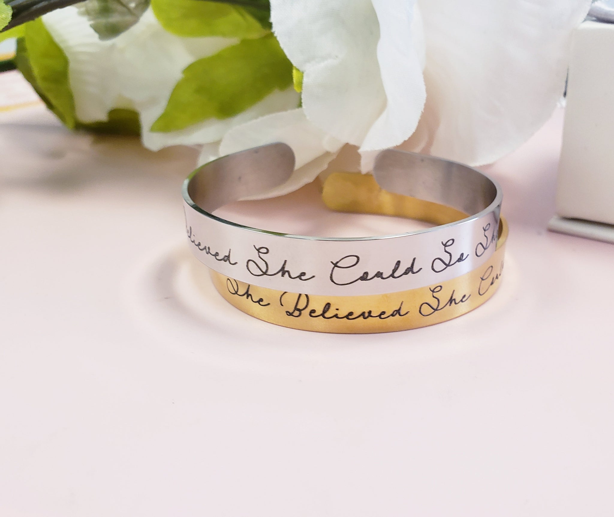 SBSC01- She Believed She Could motivational cuff