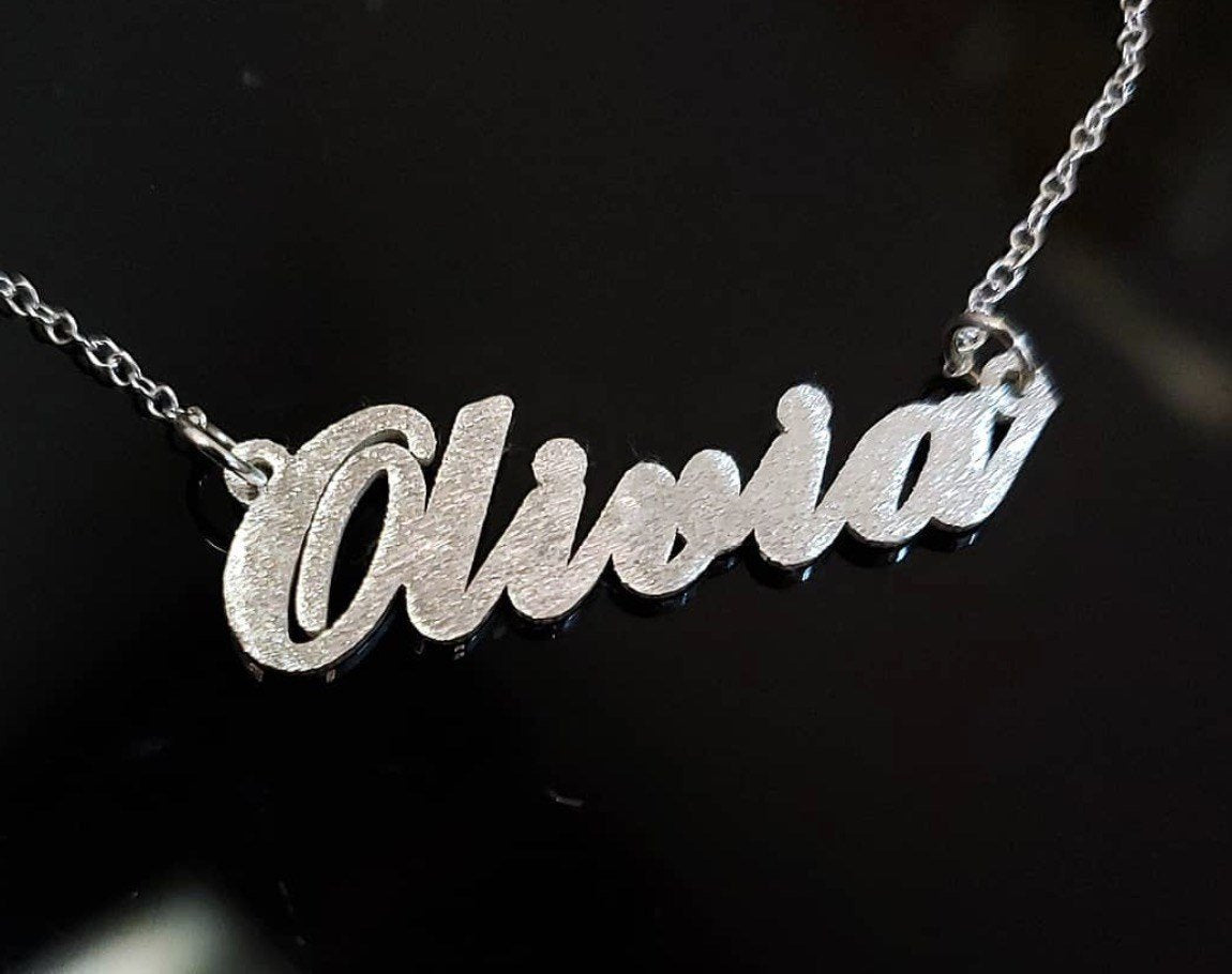 SPK01- Sparkling Personalized Name Necklace