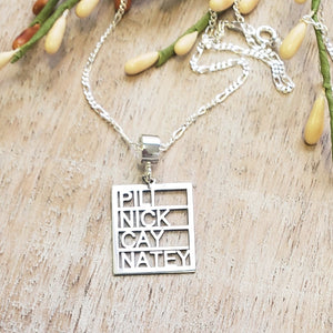 MBK01 - Rectangular Family Page Name Necklace