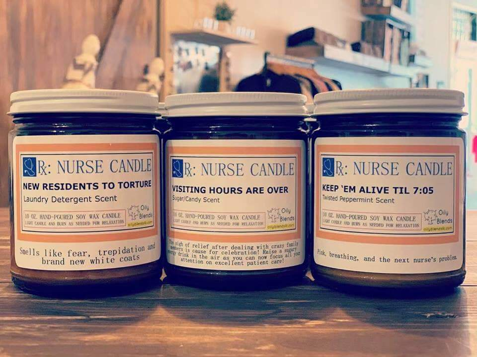 Nurse Candles - 50 Hour Burn Time Soy Wax Candles