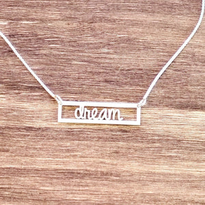 CTBR01- Calligraphy Bar Name Necklace