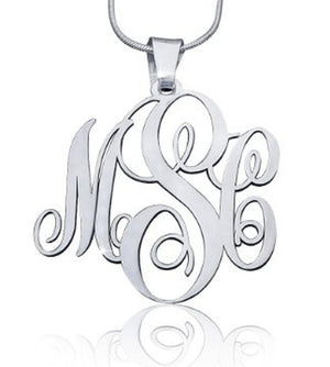 MNKK03 - Script XL Monogram Necklace