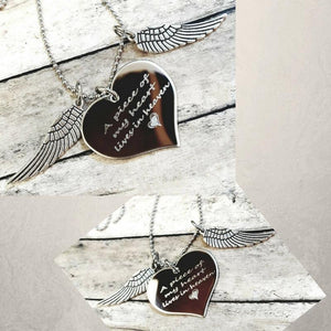 APH01 - A Piece of My Heart Lives In Heaven Memorial Charm Necklace