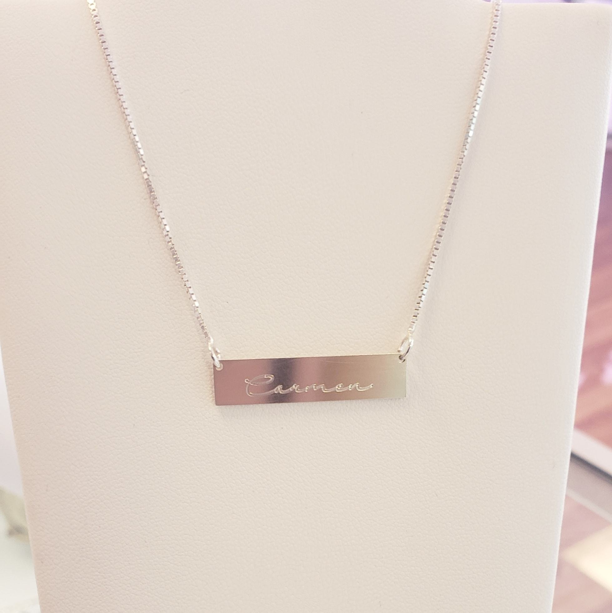 BSS01 - Sterling Silver Dainty Bar Necklace