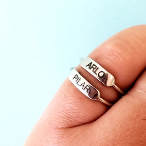 RNG02 Engraved Bar Ring