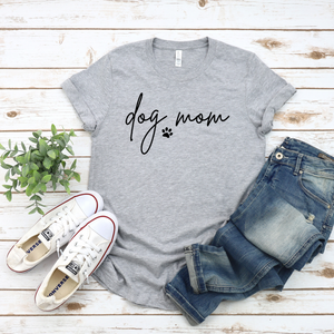 Dog Mom with Paw - Graphic Tee - RTS