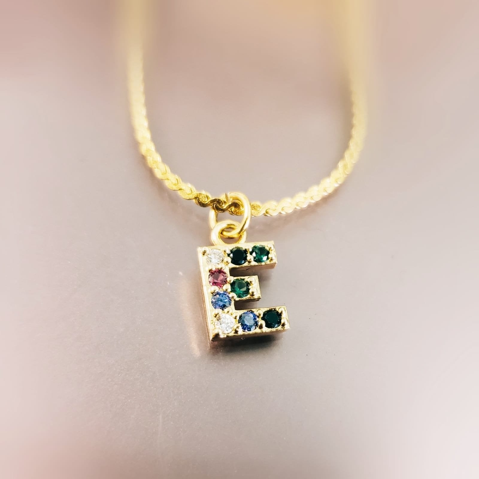 MPIN01- Multi Paved Initial Necklace