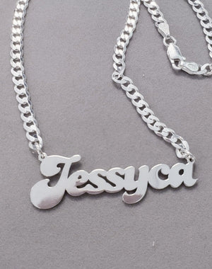 RCL01 - Retro Cuban Link Chain Name Necklace
