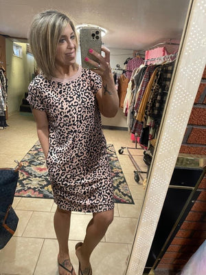 Mini Dress - Pink Leopard