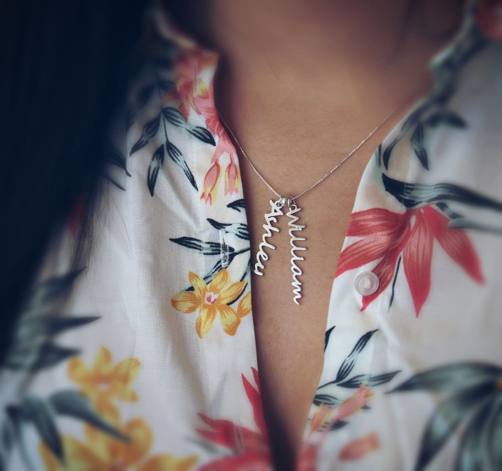 VCN01 - Vertical Cactus Name Necklace