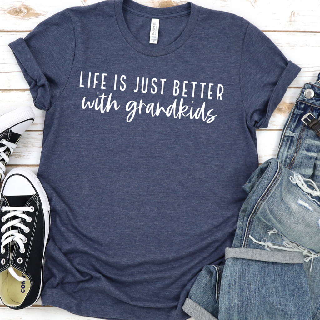 Life Is Better Grandkids - Graphic Tee