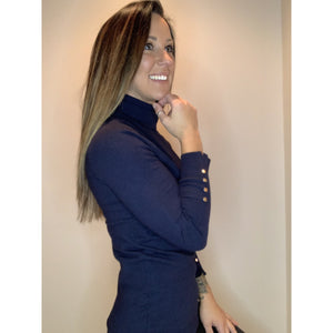 Turtleneck with Detail - Navy - RTS