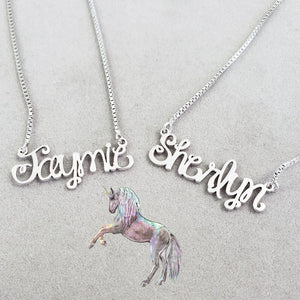 WN01 - Whimsical Name Necklace