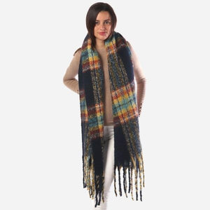 Dark Multi Color Scarf - RTS