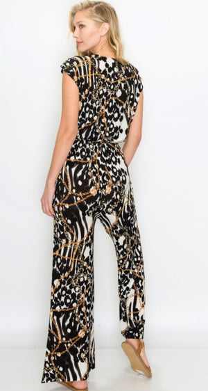 Black and Gold Chain Jumpsuit