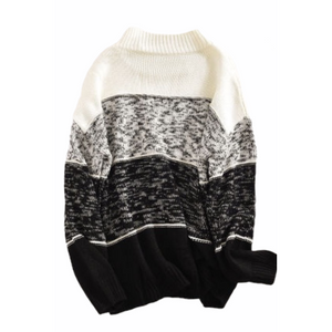Color Block Sweater - Black & White - RTS