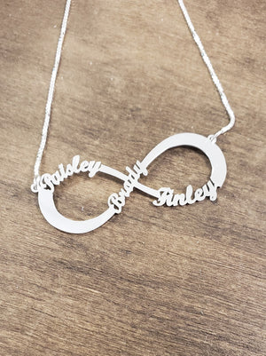 INF04 - Sterling Silver Infinity Necklace