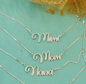 MOM01 - Mom, Grandma Necklace