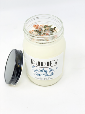 Jumbo Purify Candles with Herbs and Pink Salt