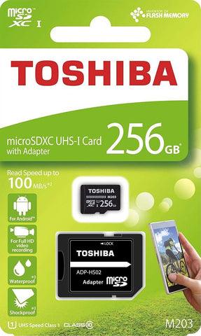 Toshiba 256GB Micro SD Memory Card U1 Class10 with SD Adapter