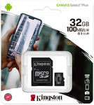 Kingston Canvas Select Plus 100Mbps 32GB Class10 Micro SD Card