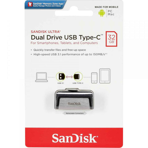 SanDisk Ultra 32GB Dual Drive USB Type-C Flash Drive