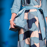 Blue Scrap Wrap Dress